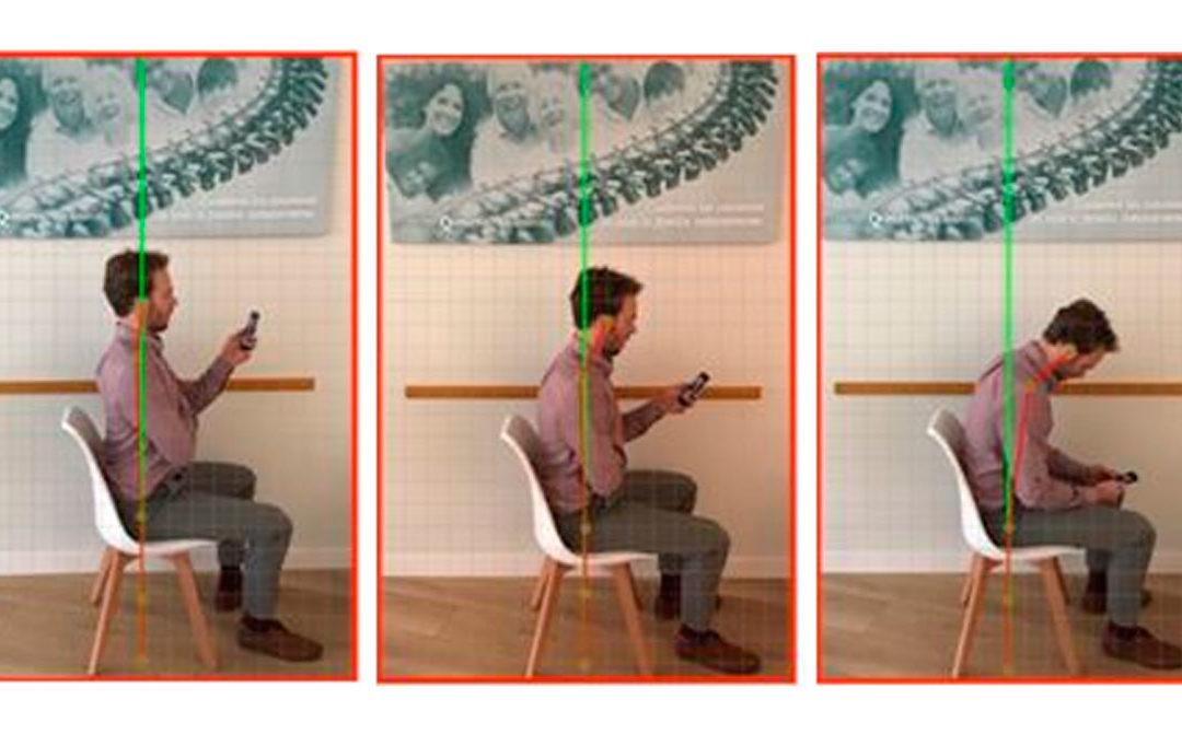 Posición al usar el móvil