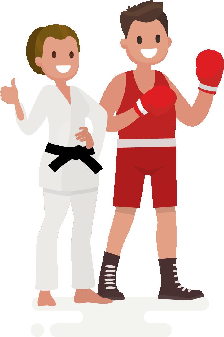 La quiropráctica en luchadores y luchadoras de artes marciales